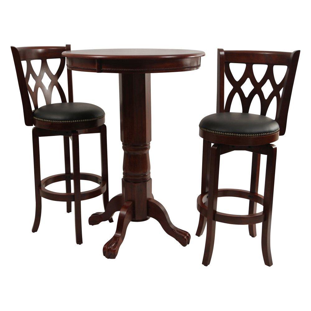 Kitchen bar table sets - Amazon Com Boraam Cathedral 3 Piece Pub Table Set Dark Cherry Kitchen Dining