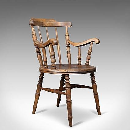 antico gomito sedia, inglese, stile vittoriano, cucina in ...
