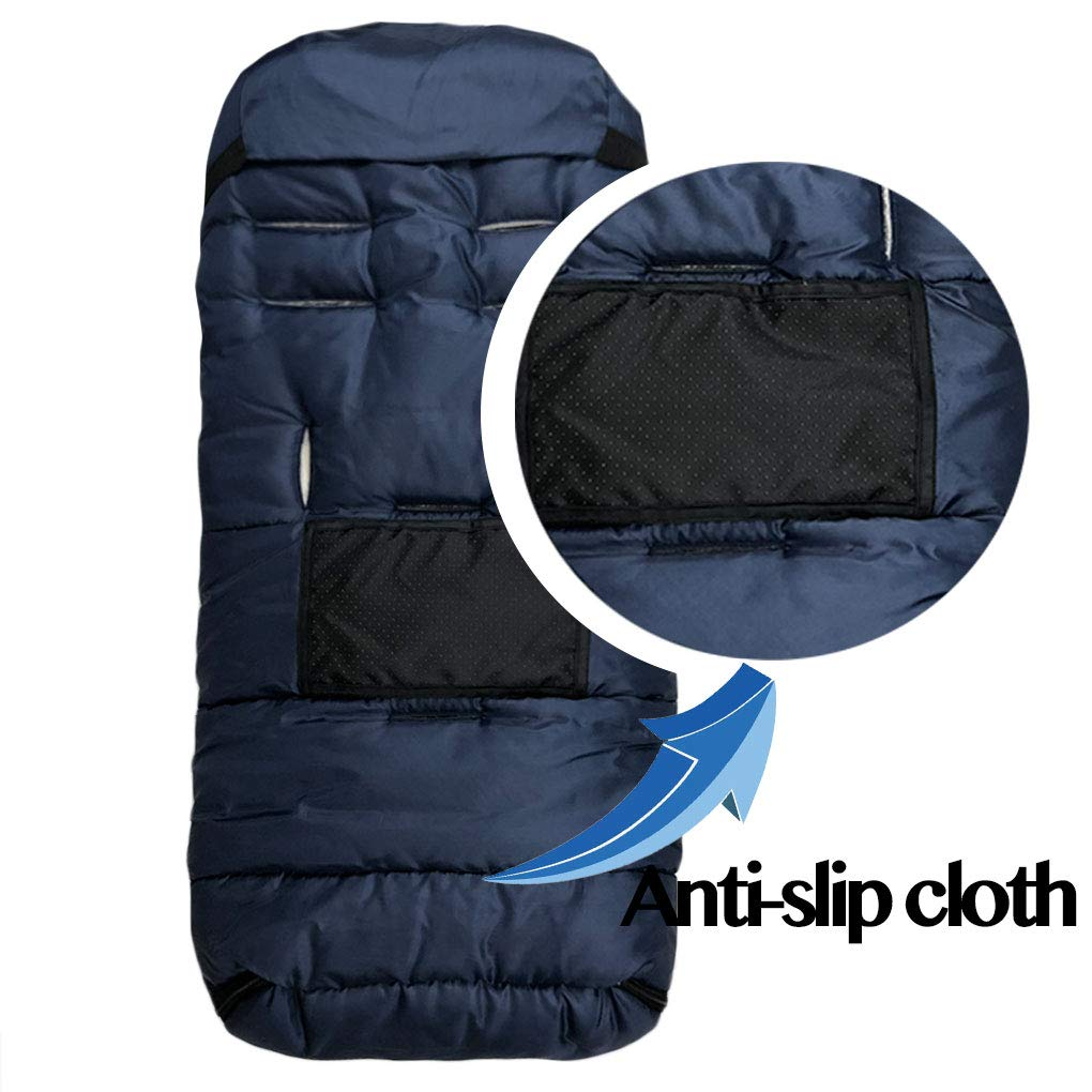 Navy Center and Botton Open for Easy In /& Out Winter Outdoor Tour Waterproof Baby Bunting Bag Toddler Size Universal Stroller Sleeping Bag