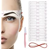 Eyebrow Stencil,12PCS Eyebrow Shaper Kit,Reusable Eyebrow Template With Strap, 3 Minutes Makeup Tools For Eyebrows