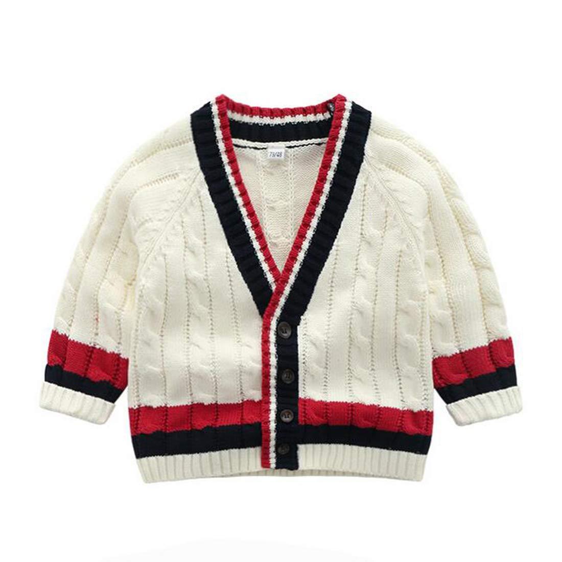 Fairy Baby Toddler Baby Boys Knitted Sweater Cardigan Gentle School Uniform Outwear Jacket