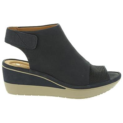 b1e63df0575c Clarks Women Wedge Shoes 26133983 Wynnmere Navy Nubuck Size 41 ...