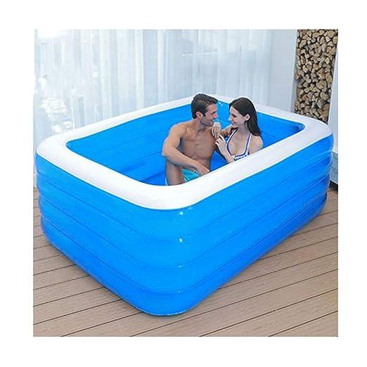 & bañera plegable Bañera para adultos Familia de bañera inflable ...
