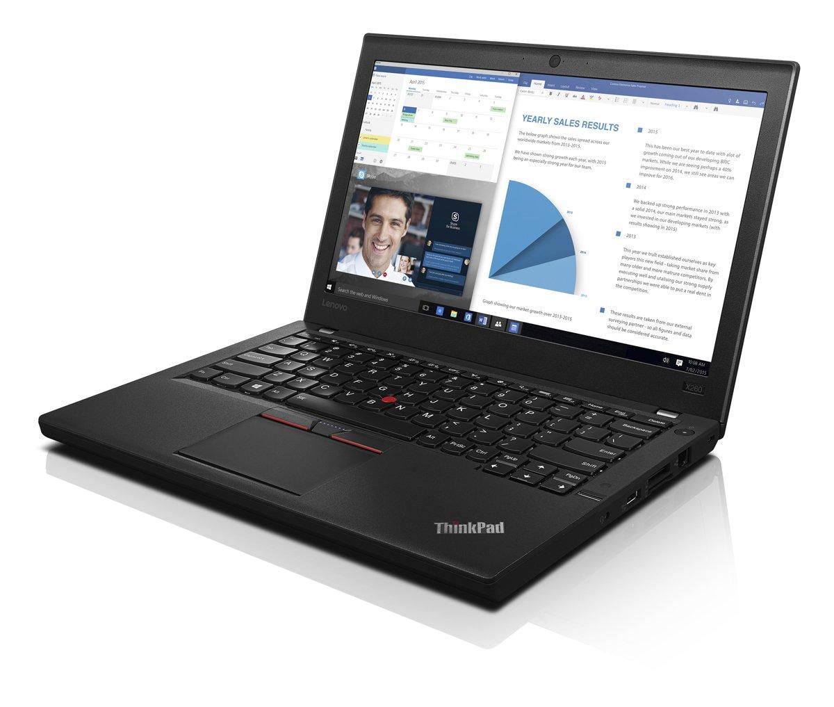 Lenovo ThinkPad X260 20F6005HUS Laptop Windows 7 Pro, Intel Core i5, 12.5 LED-Lit Screen, Storage 500 GB, RAM 8 GB Black