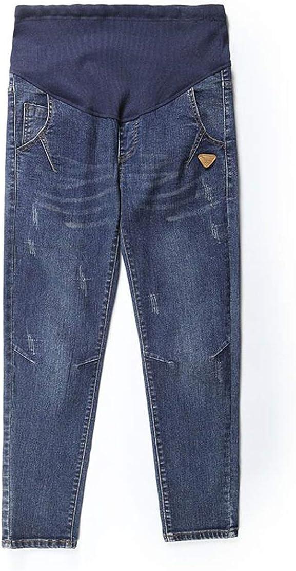 Jeans Premaman Boyfriend maternit/à Pantaloni Gravidanza Taglie Forti Regolabili Donna Incinta Leggings Estate