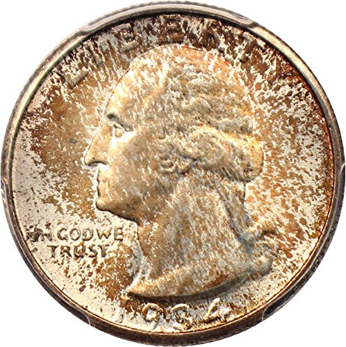 1934 P Washington Quarters (1932-98) Medium Motto Quarter MS67 PCGSCAC