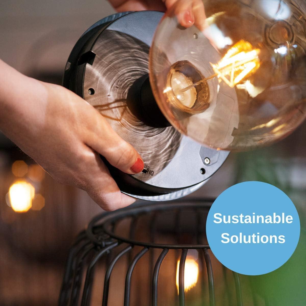 Decorative Garden Patio Table Light CLAS Ohlson /® Solar Light Ceramic Lantern 10 cm Cut Out Light Up Design