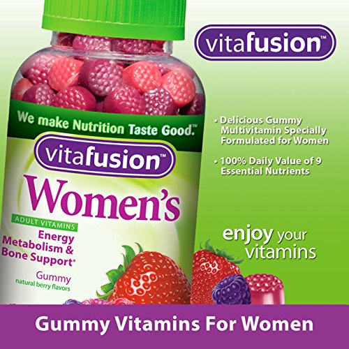 VitaFusion Women's Complete Multivitamin Natural Berry Gummies for Adults - 2 Bottles, 220 Gummies Each