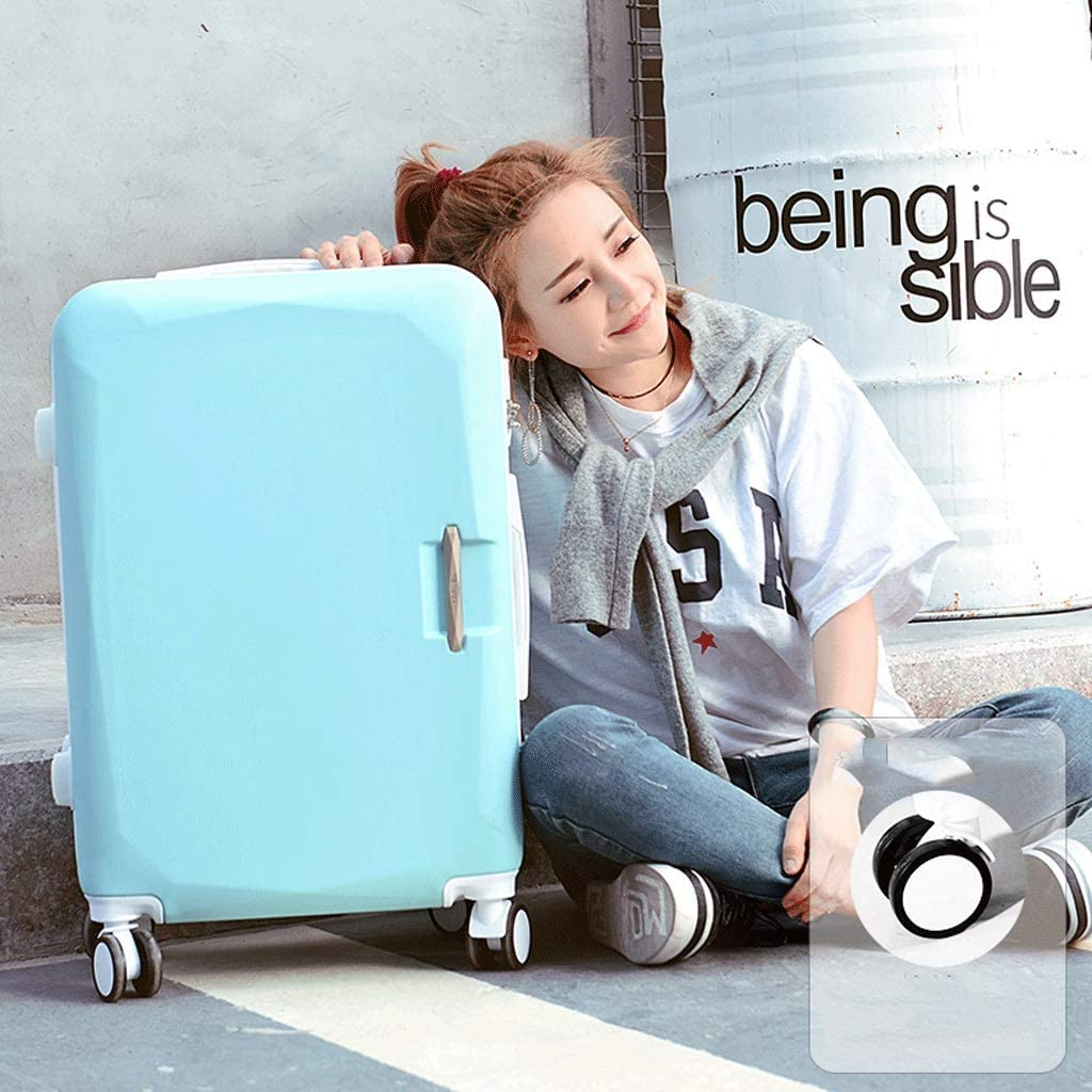 Large Capacity 26 Inch Adjustable Suitcase Set Simple and Stylish Trolley Case HUANGA Luggage Color : Blue, Size : 24 inches