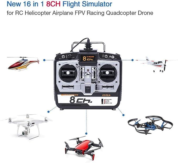 6-Ch RC Helicóptero Quadcopter Drone Flight Simulator G4//G3.5//Phoenix 2.5//XTR5.0