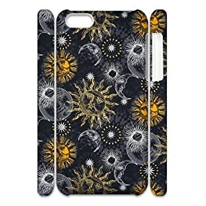 linJUN FENGSun Moon Pattern Brand New 3D Cover Case for iphone 4/4s,diy case cover ygtg543979