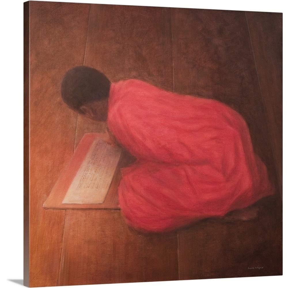 Lincoln Seligmanプレミアムthick-wrapキャンバス壁アート印刷Youngモンクというタイトルのクラス 16