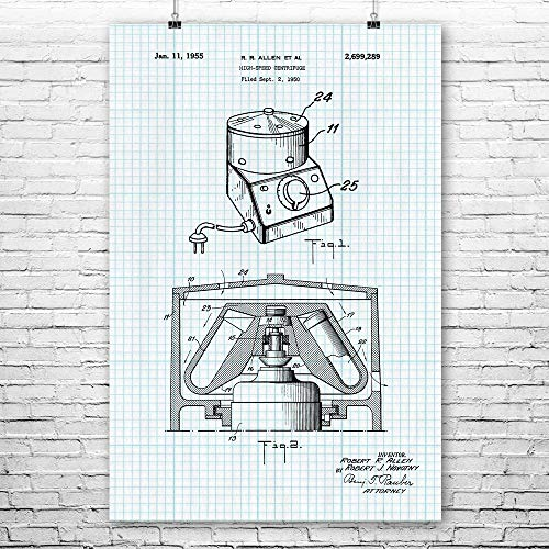 Laboratory Centrifuge Poster Print, Technician Gift, Lab Tech, Medical Clinic, Research Lab, Doctors Office, Med Student Graph Paper (16