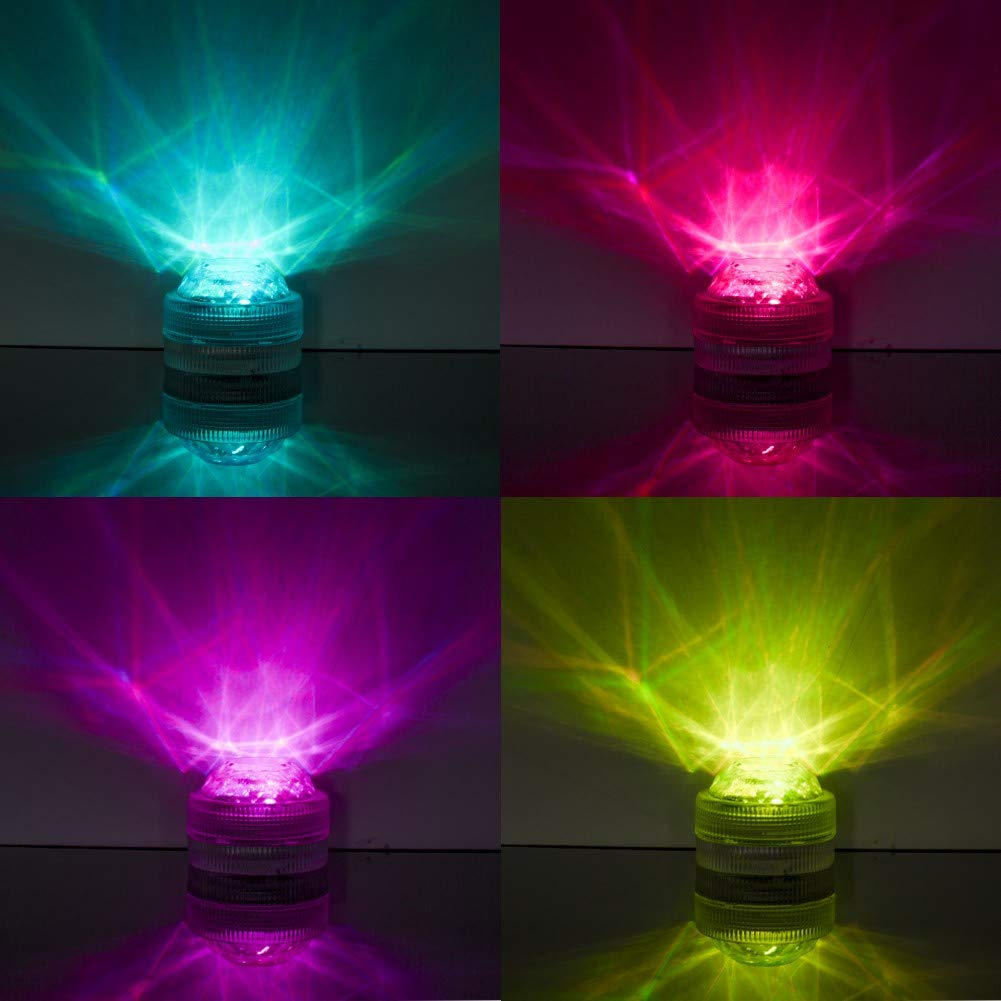 AMAGIC 12pcs Submersible LED Lights, Waterproof Underwater Lights, Battery Powered RGB Color Changing Tea Lights with 2 Remote Controls for Vase, Pool, Party and Holiday Decros by AMAGIC (Image #3)