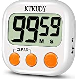 KTKUDY [2020 New Version] Kitchen Timer with Adjustable Loud Alarm & Auto Shut-Off Function, Digital Count Down/Up Stopwatch