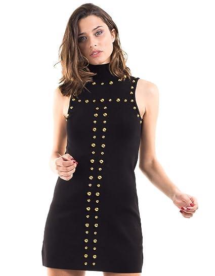 865c48b7e78d9 Guess Metal Studs Dress Black  Amazon.co.uk  Clothing