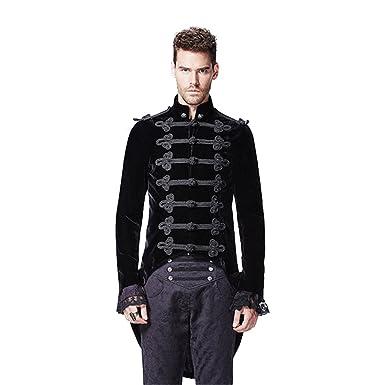 Gothic Black Noblemen Tailcoat Victorian Era Historical Alternative