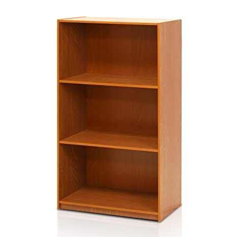 amazon com furinno 99736lc basic 3 tier bookcase storage shelves rh amazon com  freedom furniture storage shelves