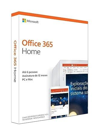 d7a030c91 Office 365 - Home 12 Meses De Assinatura 5 Pessoas - PC  Amazon.com ...