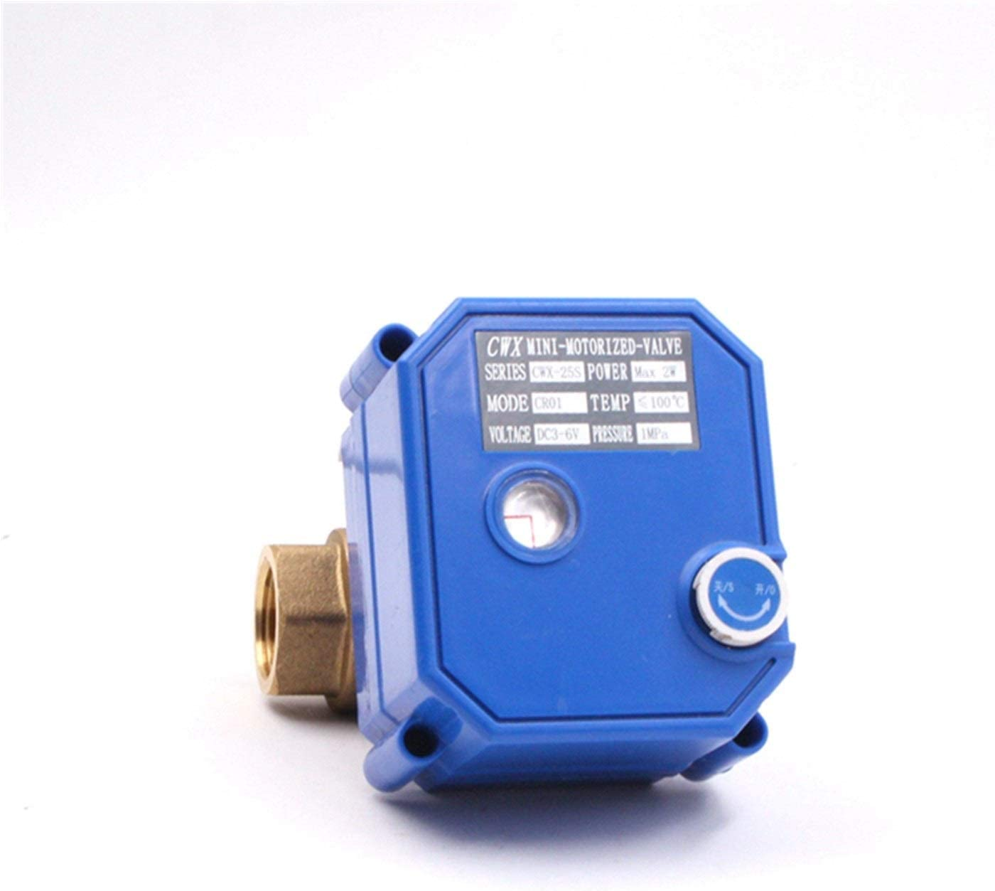 Specification : DN8, Thread Type : BSP Durable CWX-25S Electric Brass Ball Valve Motorized Ball Valve with Manual Water Valve DN15 DN20 DN25 DC3-6v ADC12V ADC24V AC220v