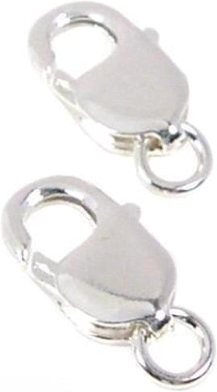 10pcs Stainless Steel Lobster Claw Clasp 12mm Necklace Closure Connector Silver