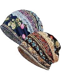 Chemo Cap Women Beanie Hat - Lace Head Scarf Turban Cancer Headwear Head Wraps