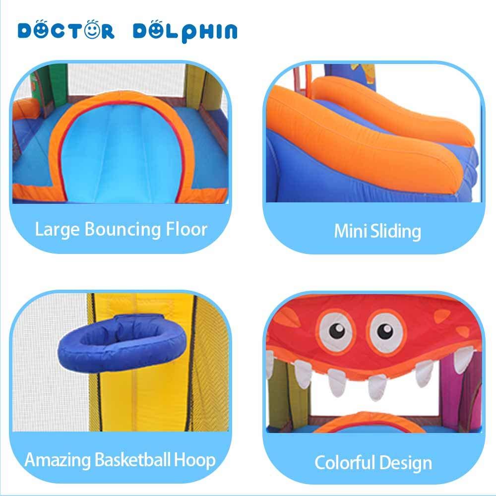 Amazon.com: Doctor Dolphin - Castillo hinchable para niños ...