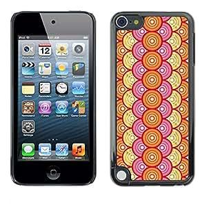 Jordan Colourful Shop - Stylish Pattern Orange Chain For Apple iPod Touch 5 Custom black plastic Case Cover