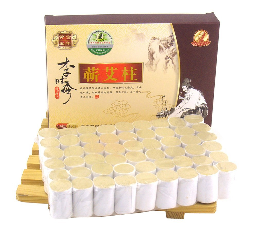 Erencook 54 Pcs Original Pure Moxibustion Column Sticks Moxa Stick Five Chen Purity 35:1 Ratio