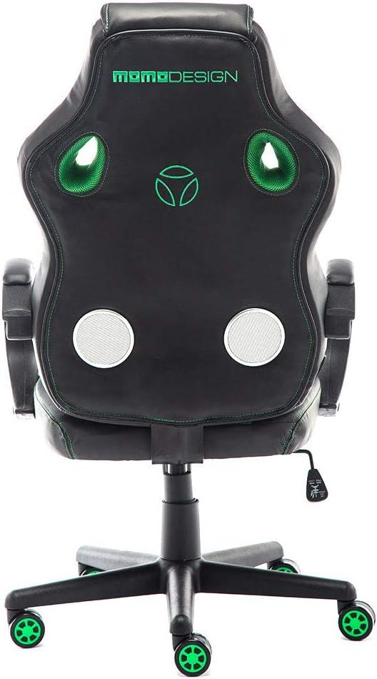 Colore Sedia da Ufficio con Suono Bluetooth Rosso//Nero MoMo Design Gaming Chair GC-002