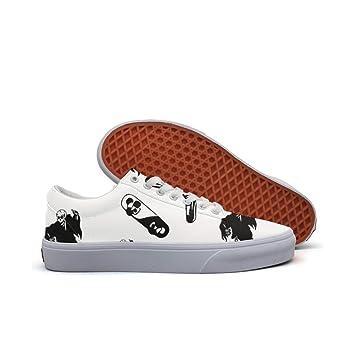 womens Skateboarding Shoes Canvas black skull skateboarding Sport Sneaker