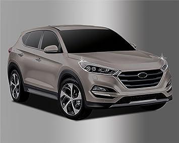 Amazon.es: Para Hyundai Tucson 2015 + cromado cabeza luz juego de tapacubos (2 piezas)