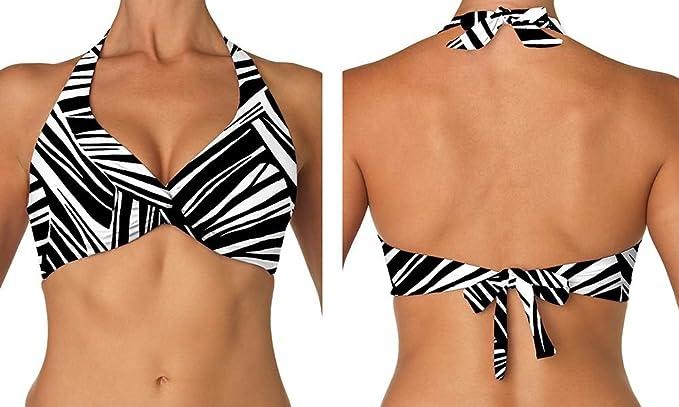 e76aaacd27dc0 Sunsets Women s Underwire Halter Bra Bikini Top (D Cup) River Bend 32DD