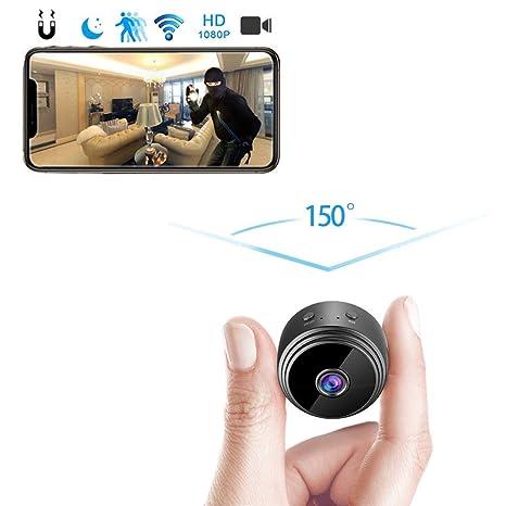 amaes Mini Cámara Espía Oculta 1080P HD WiFi Videocámara Portátil con visión Nocturna por Infrar Rojos Vigilancia Hogar Cámara de Seguridad para ...