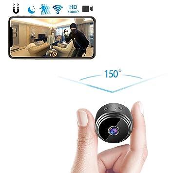 amaes Mini Cámara Espía Oculta 1080P HD WiFi Videocámara Portátil ...