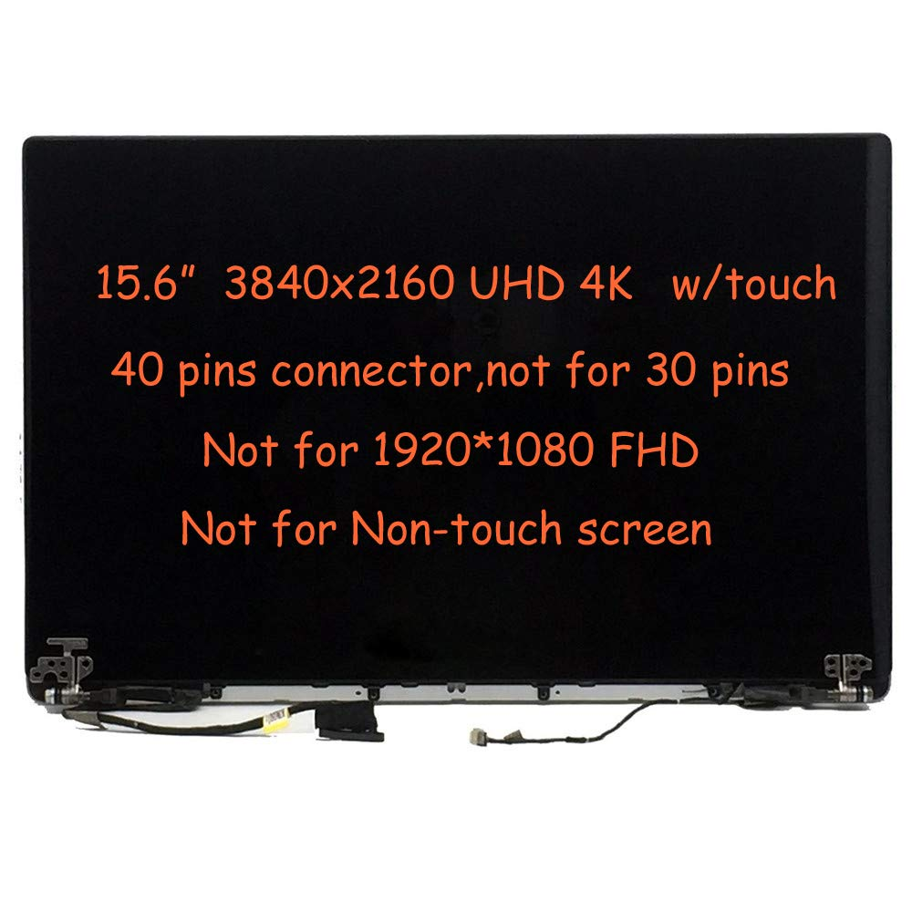 FirstLCD Touch ISP LCD Screen Replacement HHTKR N98CY for Dell XPS 15 9550 9560 Precision 5510 5520 Digitizer Glass LED Display Panel Assembly 15.6'' UHD 4K 3840x2160 by FirstLCD (Image #3)