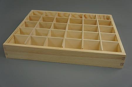 Cajas de madera signicase wsmxdf 30 compartimentos de ...