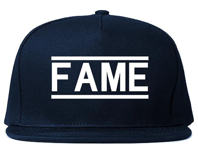 1d3f8518cd2 Fame Famous Mens Snapback Hat Cap Navy Blue at Amazon Men s Clothing ...