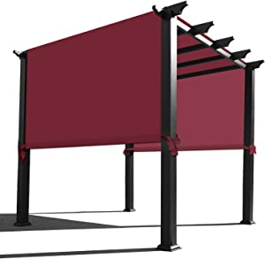 Alion Home Waterproof Pergola Covers - Pergola Replacement Canopy - Universal Replacement Canopy for Pergola (12' L x 9' W, Burgundy Red)