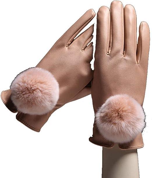 Fashionable Touch Screen Micro Velvet Warm Gloves Women Warm Thin Autumn Winter