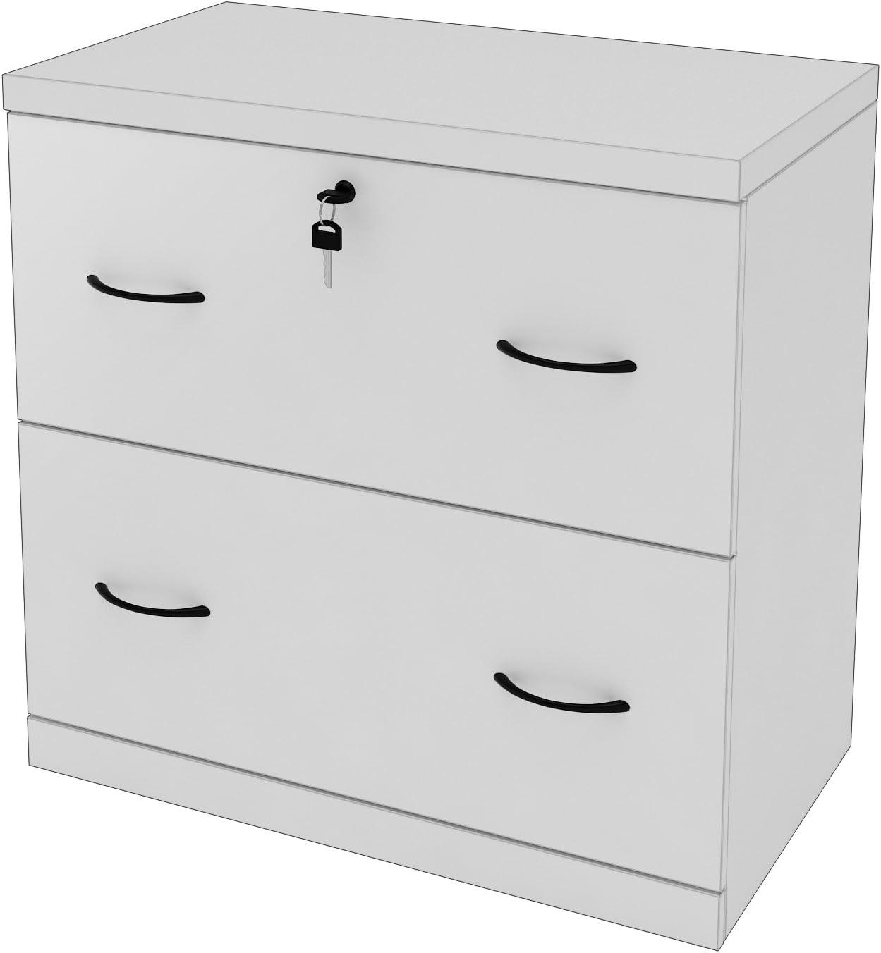 Z-Line Designs 2-Drawer White Lateral File, White