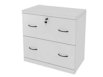 Z Line Designs 2 Drawer White Lateral File, White