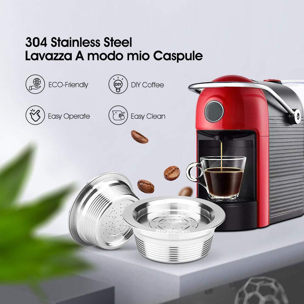 Capsule Filtre de Caf/é R/éutilisables Rechargeables Capsules de caf/é Reusable UMIWE Reusable R/éutilisable Dosettes Capsules Caf/é pour LAVAZZA A MODO MIO JOLIE ESPRIA 3pcs