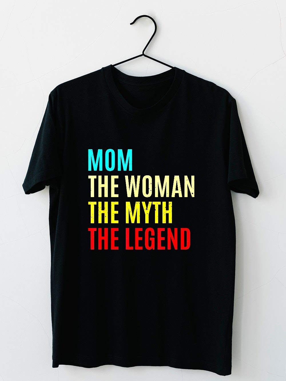 Mom The Woman The Myth The Legend Mothers Day Gift For Wife Cotton Short Sleeve T Shirt H