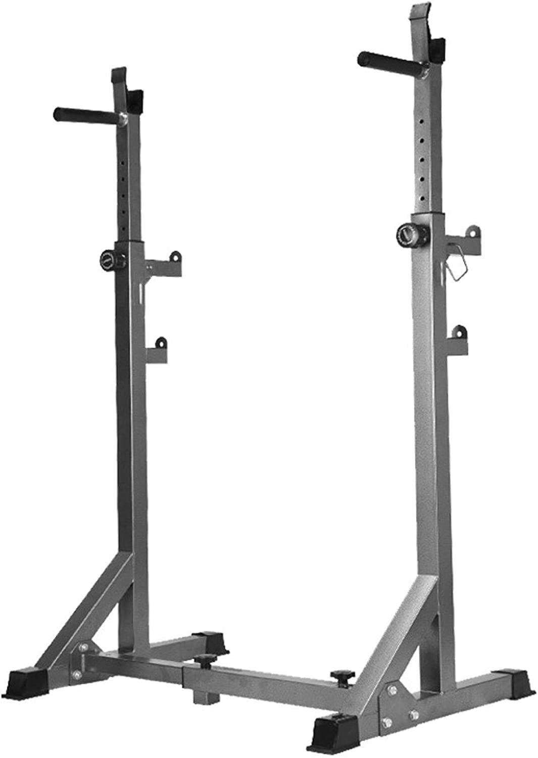 Boddenly Double Height Adjustable Squat Stand Barbell Rack,Barbell Rack Dip Stand Barbell Stand Weight Lifting Rack for Gym Family Fitness,Easy to Store and Carry,Max Load 660Lbs