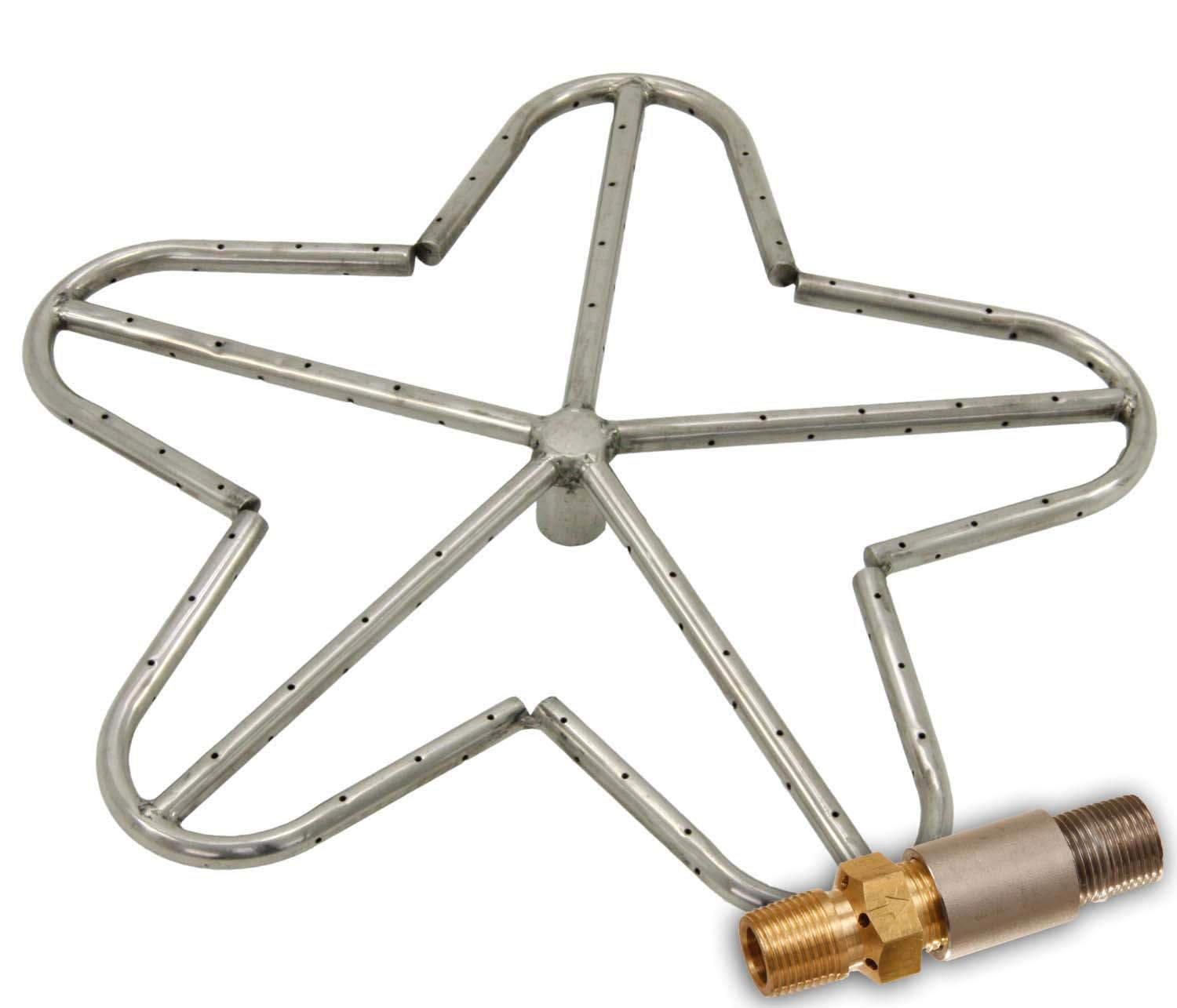 Hearth Products Controls (HPC) Penta Fire Pit Burner (PENTA18-LP), 18-Inch, Stainless Steel, Propane Gas