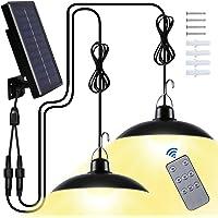 Luz Solar Exterior, Luz Solar LED para Exteriores con IP65 Impermeable Focos LED Exterior para Terraza/Jardín/Parque…
