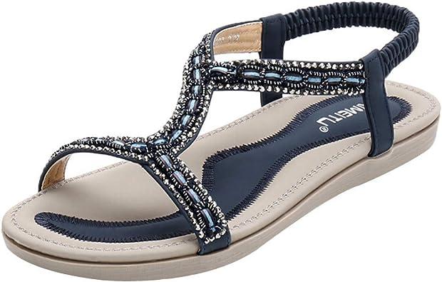 Women's Boho Glitter Sandals Open Toe t