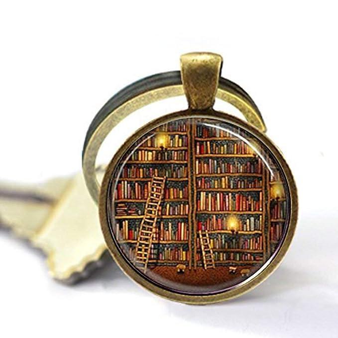 Llavero de biblioteca, llavero con diseño de cúpula de ...