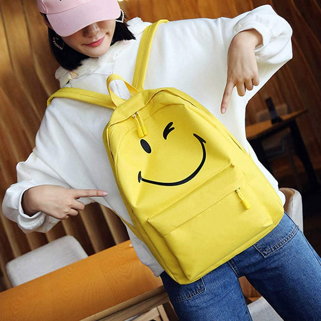 CHUNKUNA Women/&Girls Cute Smile New Large-Capacity Leisure Outdoor Travel Shoulder Bookbags Laptop Backpack